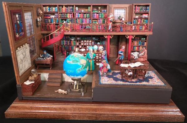 Library diorama completed